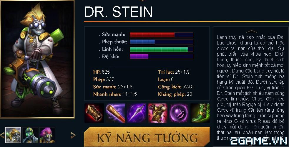 Huyền Thoại MOBA - Tiêu điểm tướng Dr.Stein 0