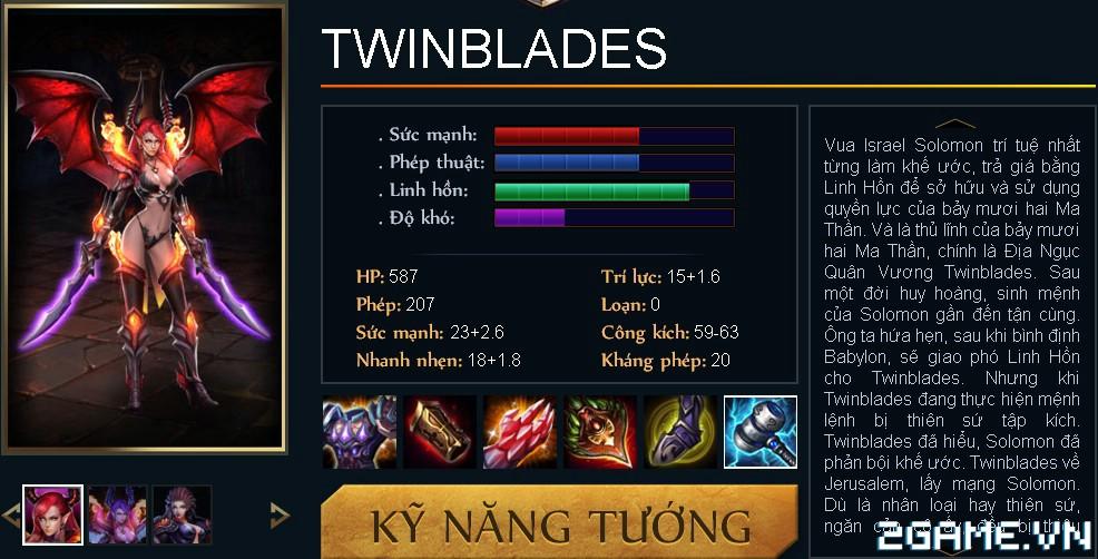 Huyền Thoại MOBA - Tiêu điểm tướng Twinblades 0