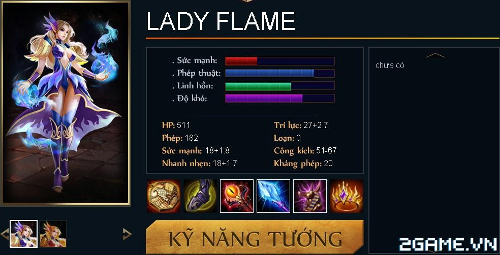 Huyền Thoại MOBA – Tiêu điểm tướng  Lady Flame