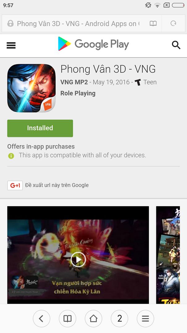 Phong Vân 3D VNG đã chính thức cho người chơi tải game 3