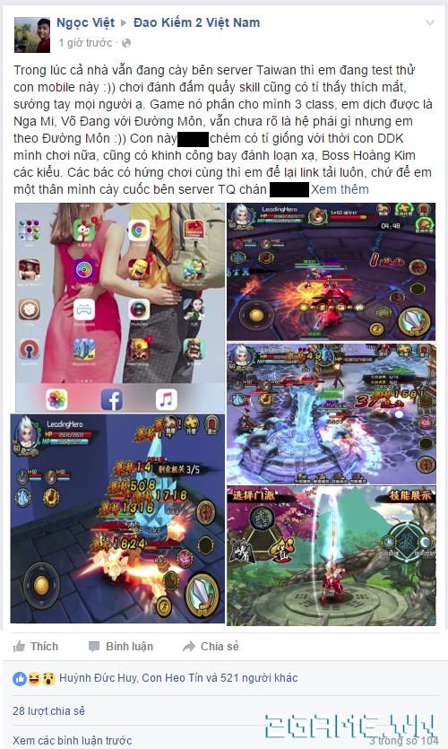 Kiếm Khách Truyện - Cộng đồng Đao Kiếm 2 náo nhiệt tái xuất, rủ nhau chơi Kiếm Khách Truyện 1