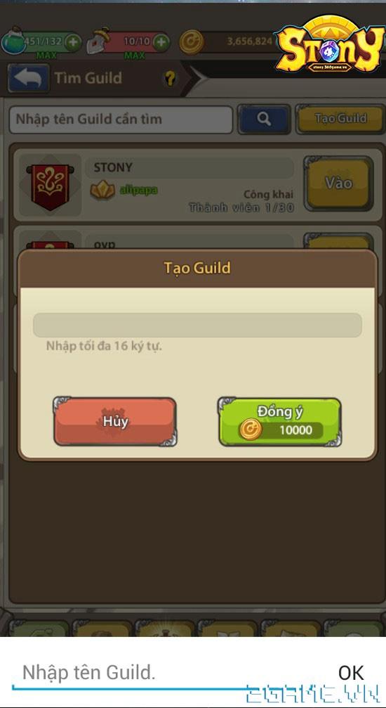 Stony Mobi - Tìm hiểu Hệ Thống Guild 1