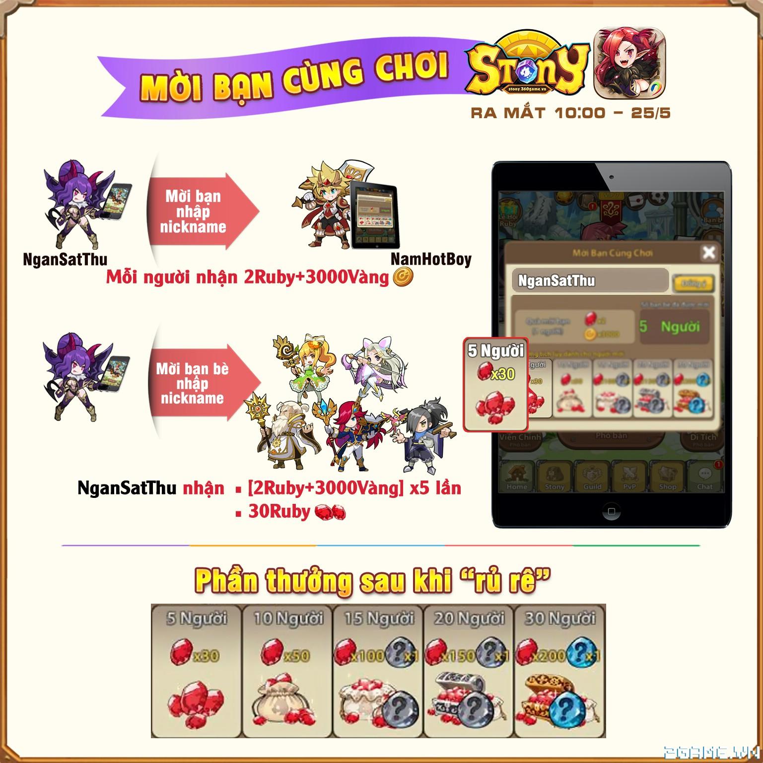 Stony Mobi - Hướng dẫn Mời bạn cùng chơi 2