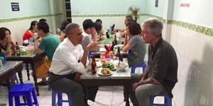 Đại Chiến Tam Quốc – Game thủ rủ nhau ăn bún chả Hương Liên giống Tổng thống Obama