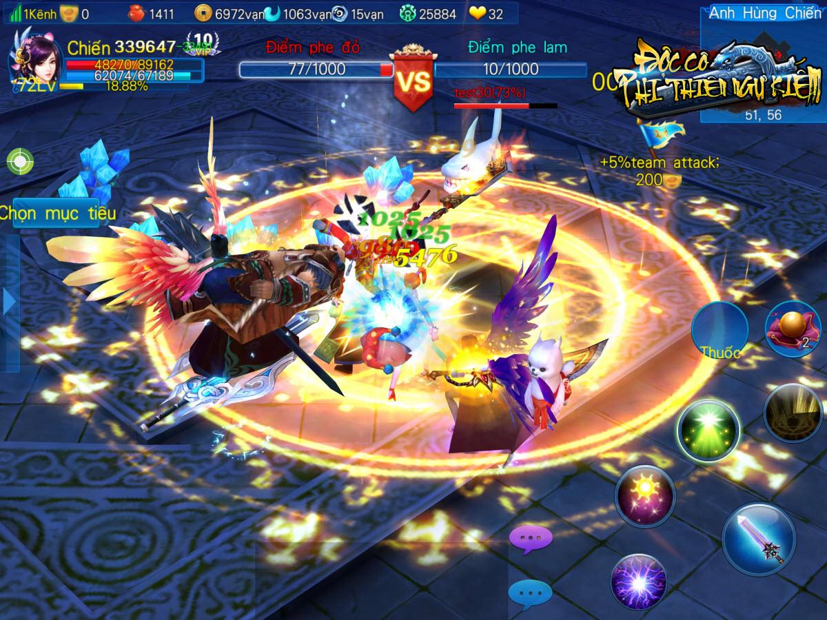 Độc Cô Cầu Bại - Top 5 tính năng đặc sắc nhất trong chiến trường PvP của game kiếm hiệp 4