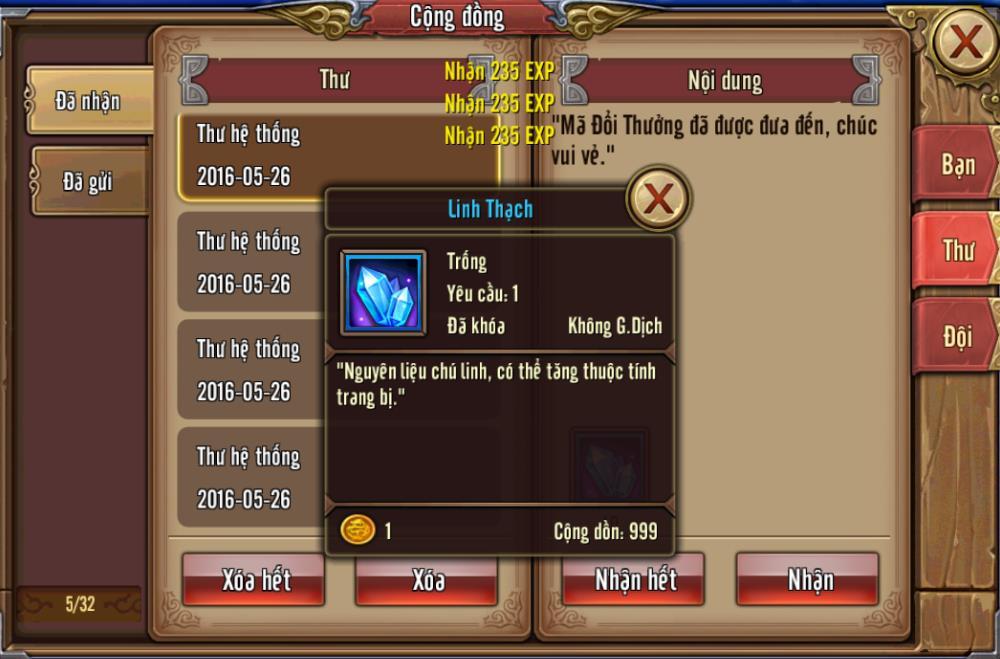 Tặng 110 giftcode game Phong Vân 3D 6