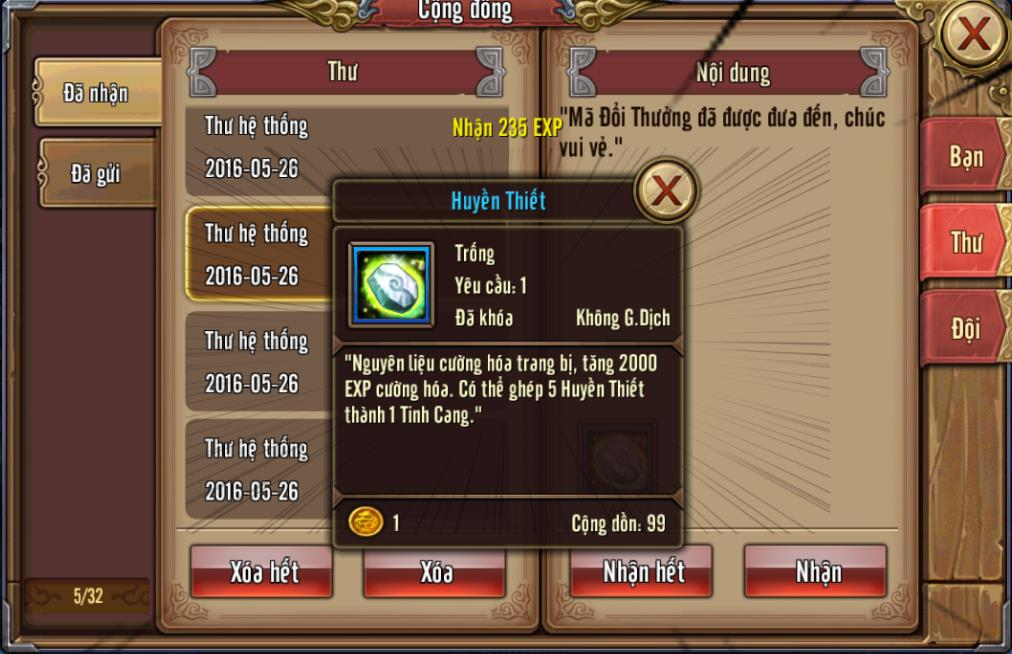 Tặng 110 giftcode game Phong Vân 3D 7