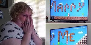 Màn tỏ tình độc đáo theo phong cách Mario của game thủ