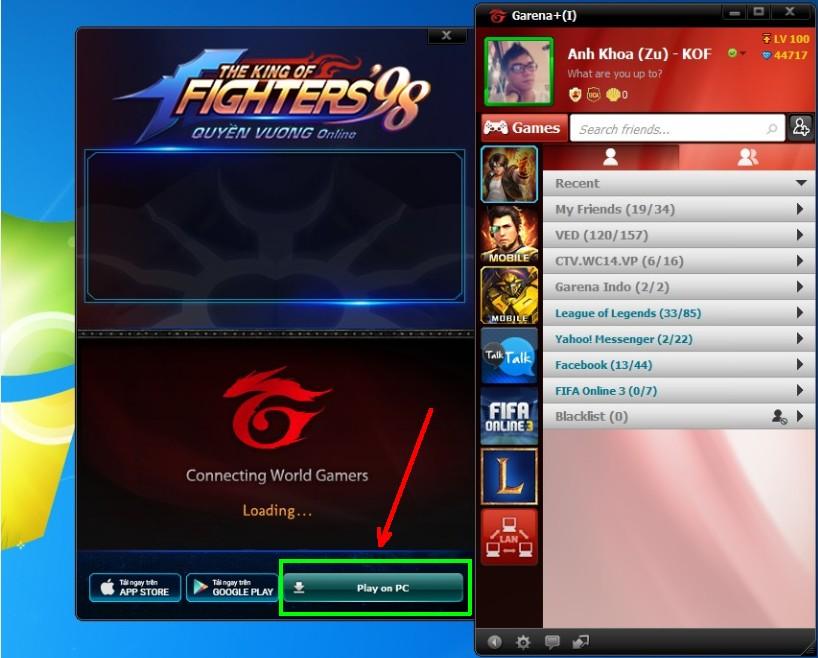 Quyền Vương 98 - Hướng dẫn chơi trên PC bằng giả lập của garena 1