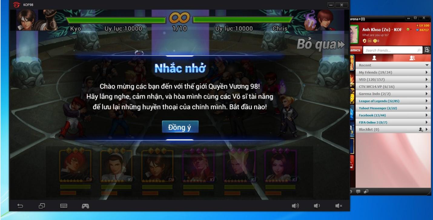 Quyền Vương 98 - Hướng dẫn chơi trên PC bằng giả lập của garena 4