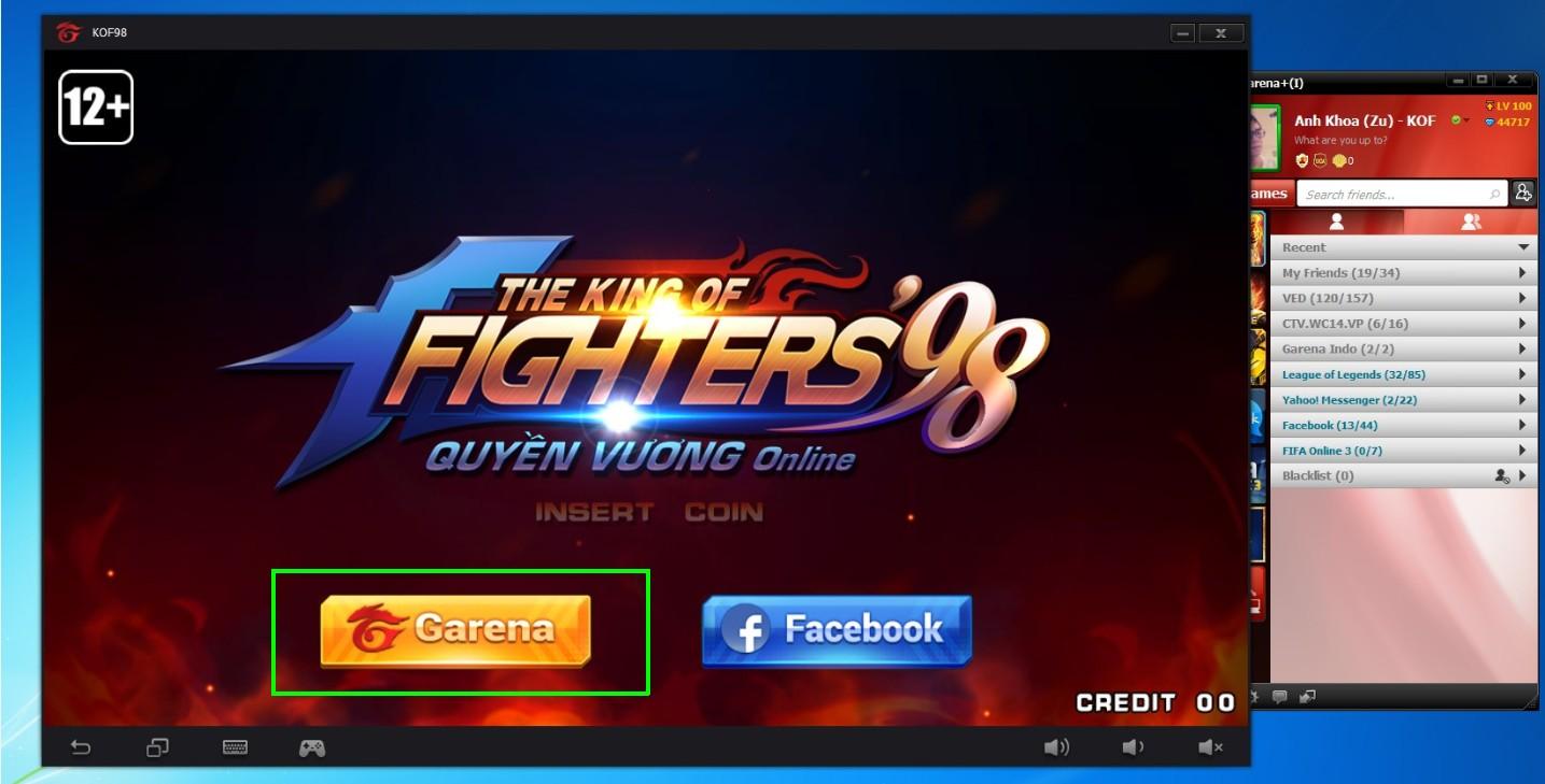 Quyền Vương 98 - Hướng dẫn chơi trên PC bằng giả lập của garena 5