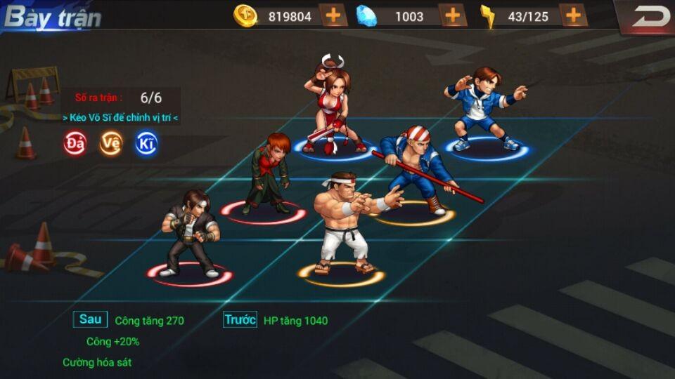 Quyền Vương 98 - Đả, Vệ, Kĩ và cách bày trận cơ bản trong game 2