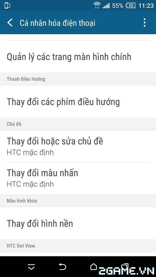 3Q 360Mobi - Hướng dẫn ẩn nút điều hướng HTC 1