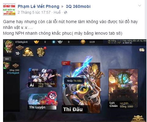 Game thủ Việt nói gì về MOBA 3Q 360Mobi sau gần 1 tuần thử nghiệm? 7