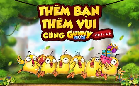 Tặng 610 giftcode game Gunny Mobi 1
