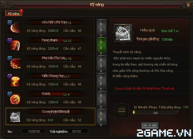 Webgame Soái Vương - Kỹ năng anh hùng 2