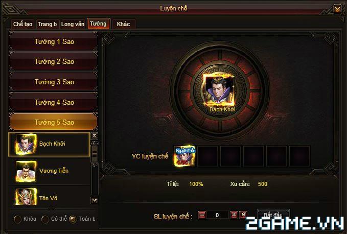 Webgame Soái Vương - Chiêu mộ anh hùng 2
