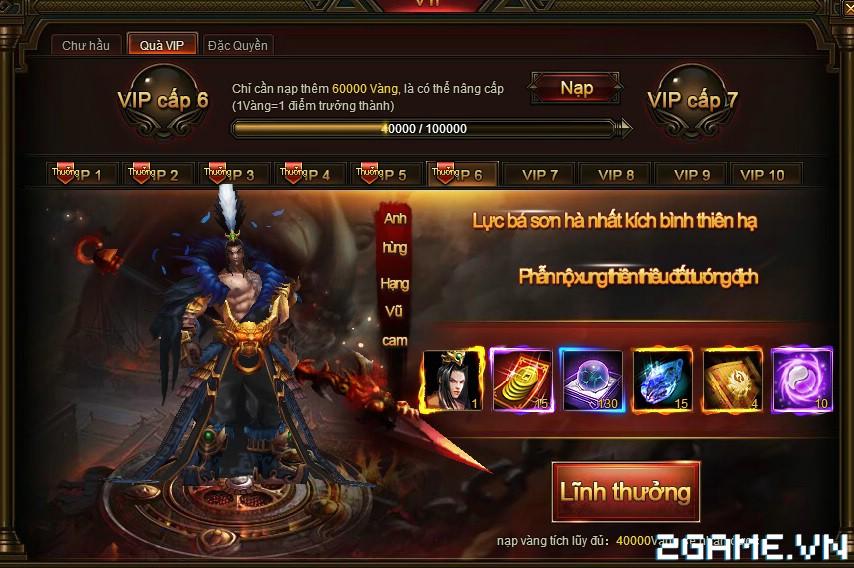 Webgame Soái Vương - Hệ thống VIP 0
