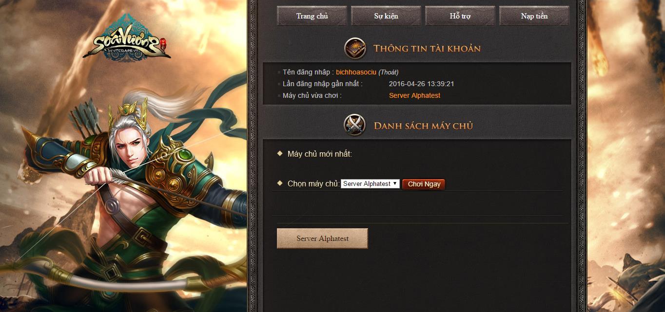 Tặng 220 giftcode game Soái Vương 0