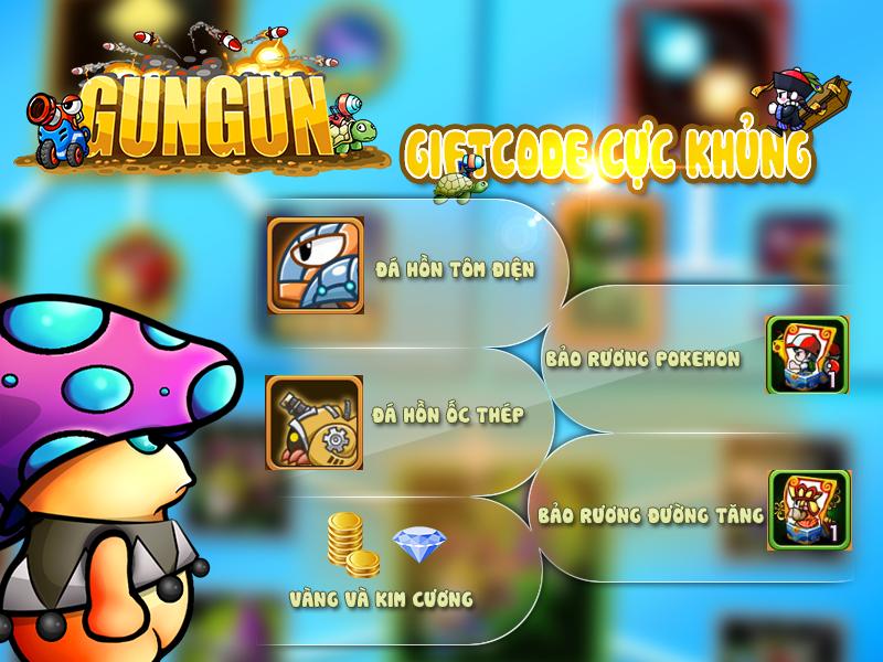 Tặng 606 giftcode game GunGun Online 0