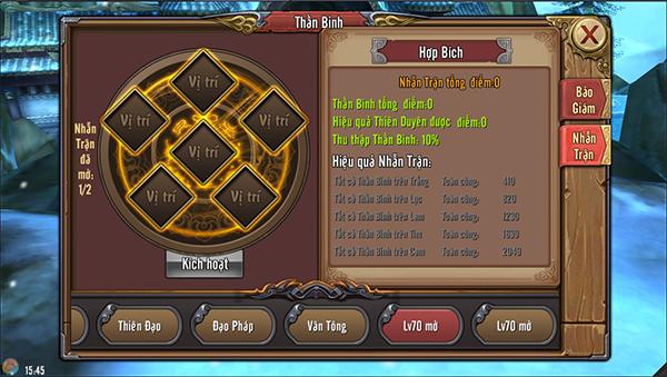Phong Vân 3D - Tăng mạnh lực chiến bằng nhẫn trận thần binh 1