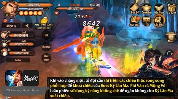 Phong Vân 3D - Chiến thuật đánh boss Lăng Vân Quật cấp thường 1