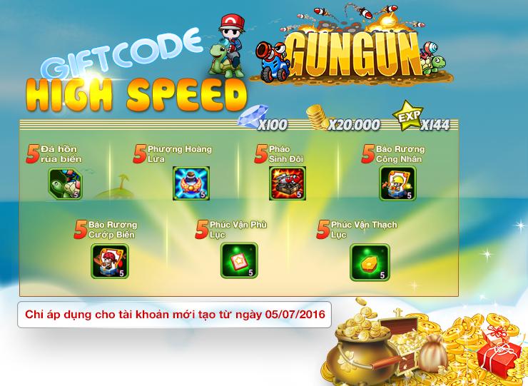 Tặng 1010 giftcode game GunGun Online 1