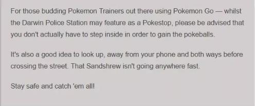 Pokemon GO - Game thủ Úc gặp rắc rối khi xông vào đồn cảnh sát lấy Pokeball 3