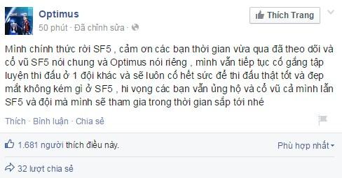 Optimus rời Saigon Fantastic Five