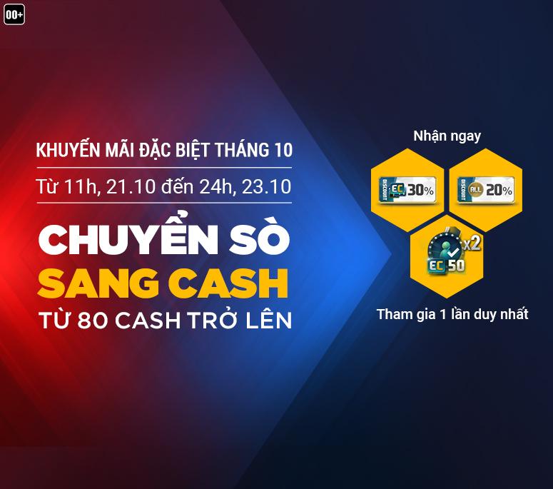 Fifa Online 3: Chuyển Sò sang Cash nhận khuyến mãi đặc biệt tháng 10
