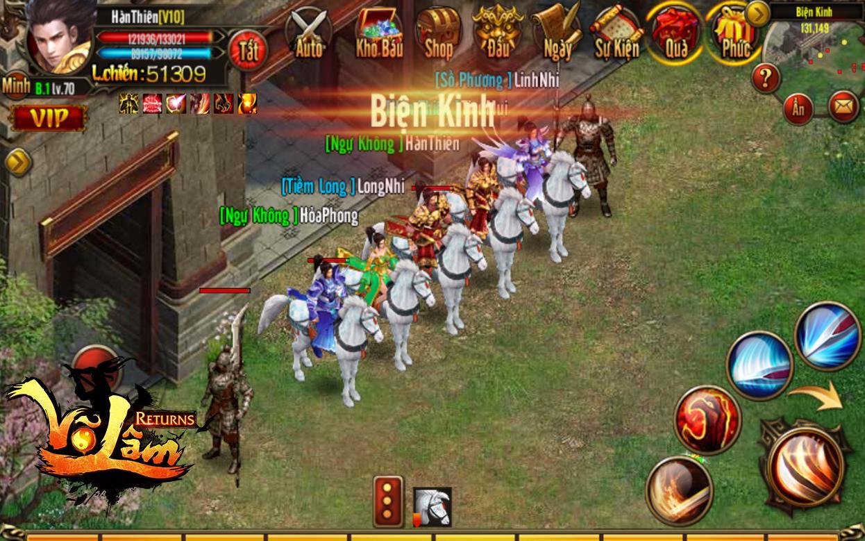 XemGame tặng 500 giftcode game Võ Lâm Returns