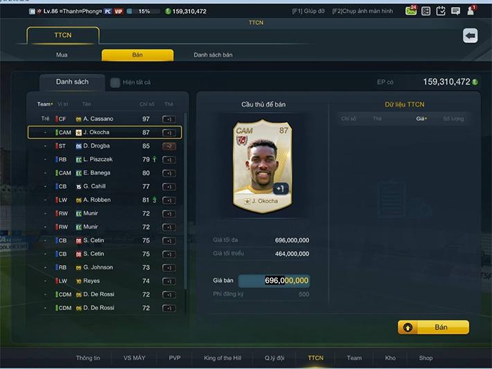 Okocha WL đầu tiên đã xuất hiện trong FIFA Online 3 Việt Nam