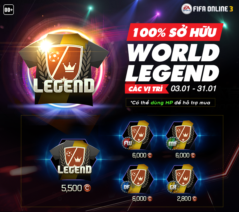 Review gói 100% Huyền Thoại World Legend vừa ra mắt trong Fifa Online 3