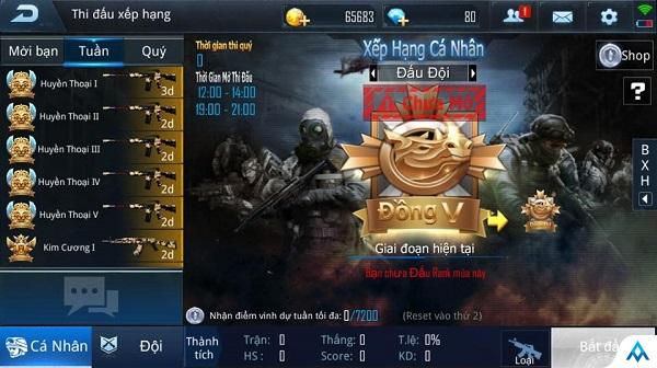 Đấu Rank – Chiến trường khắc nghiệt rèn luyện bản lĩnh eSports của game thủ Phục Kích Mobile