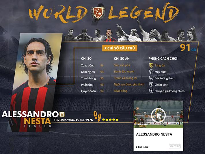 Soi chỉ số của 10 World Legends vừa mới xuất hiện trong Fifa Online 3
