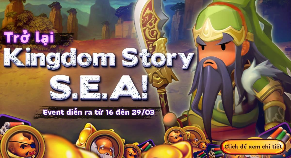 """Kingdom Story ra mắt event """"Trở lại Kingdom Story S.E.A"""" và hàng loạt tính năng mới"""