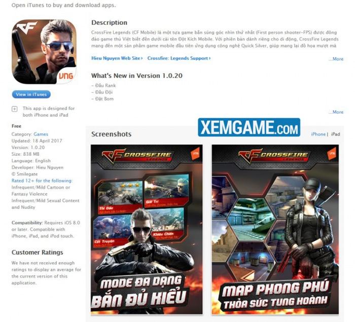 Crossfire Legends chính thức ra mắt phiên bản iOS, game thủ mừng hết lớn!