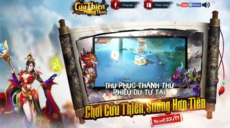 Webgame Cửu Thiên Phong Thần ấn định thời điểm ra mắt game thủ Việt