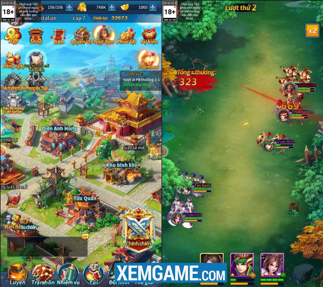 Kinh Điển Tam Quốc Mobile sở hữu lối chơi mang nhiều tính giải trí