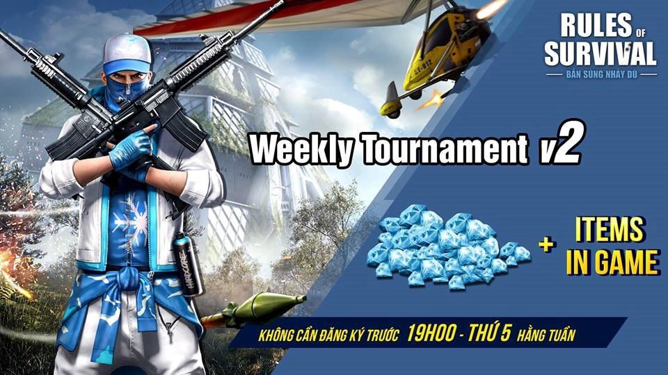 ROS Mobile Weekly Tournament 2019 đang chờ đón các bạn vào 19h tối nay thứ Năm ngày 17/1