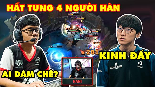 LMHT: Thao tác chuột của Hani vs Top Lane số 1 Hàn Quốc Nuguri với pha Hất Tung 4 người quét sạch