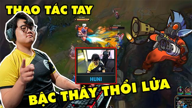 LMHT: Cận cảnh thao tác tay của CG Huni, bậc thầy thổi lửa với vị tướng Rumble (Proview CKTG 2019)
