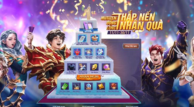 MU Awaken VNG đãi bánh kem ảo tới tất cả người chơi