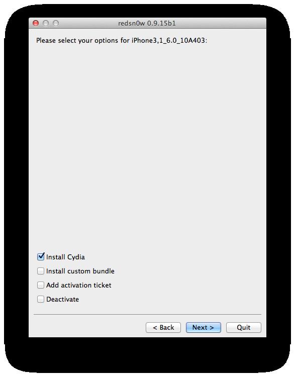 9- Install Cydia.