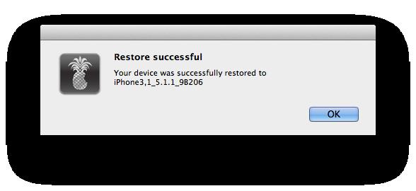 D15- Restore Successful.
