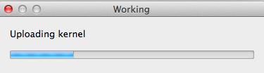 4a- Uploading kernel.