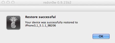 5- Restore successful.