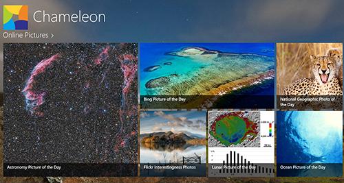 Chameleon, ứng dụng cung cấp nhiều ảnh nền đẹp cho màn hình khóa của Windows 8