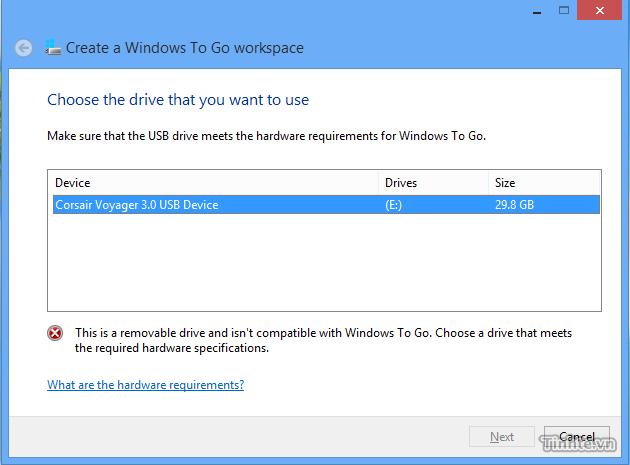 Hướng dẫn tạo Windows To Go trên ổ cứng gắn ngoài 832505