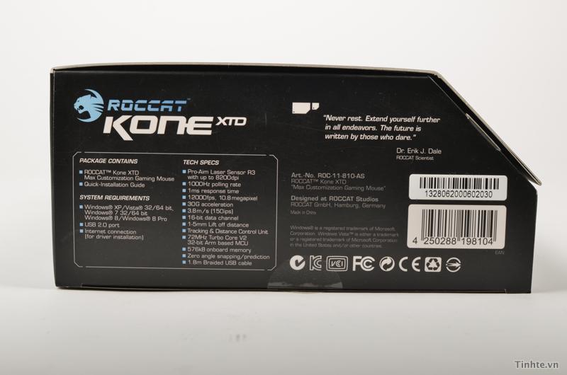 Chuột ROCCAT Kone XTD & Pure: cầm nhẹ, 8200 DPI 838095